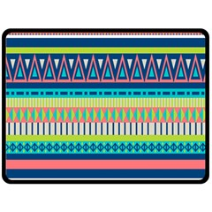 Aztec Triangle Chevron Wave Plaid Circle Color Rainbow Double Sided Fleece Blanket (large)  by Mariart
