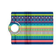 Aztec Triangle Chevron Wave Plaid Circle Color Rainbow Kindle Fire Hd (2013) Flip 360 Case by Mariart