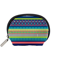 Aztec Triangle Chevron Wave Plaid Circle Color Rainbow Accessory Pouches (small)  by Mariart