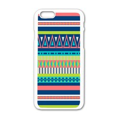 Aztec Triangle Chevron Wave Plaid Circle Color Rainbow Apple Iphone 6/6s White Enamel Case by Mariart