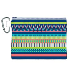 Aztec Triangle Chevron Wave Plaid Circle Color Rainbow Canvas Cosmetic Bag (xl) by Mariart