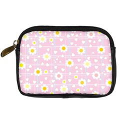 Flower Floral Sunflower Pink Yellow Digital Camera Cases by Mariart