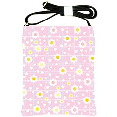 Flower Floral Sunflower Pink Yellow Shoulder Sling Bags by Mariart