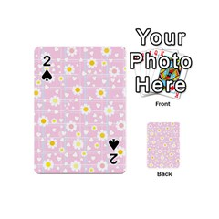 Flower Floral Sunflower Pink Yellow Playing Cards 54 (mini)  by Mariart