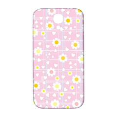 Flower Floral Sunflower Pink Yellow Samsung Galaxy S4 I9500/i9505  Hardshell Back Case by Mariart