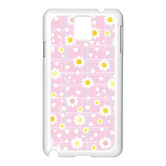Flower Floral Sunflower Pink Yellow Samsung Galaxy Note 3 N9005 Case (white) by Mariart