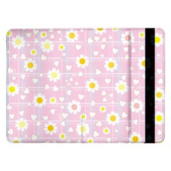 Flower Floral Sunflower Pink Yellow Samsung Galaxy Tab Pro 12 2  Flip Case by Mariart