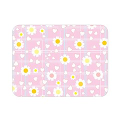 Flower Floral Sunflower Pink Yellow Double Sided Flano Blanket (mini)  by Mariart