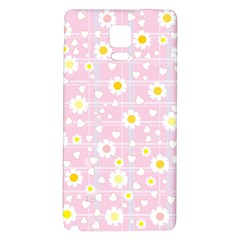 Flower Floral Sunflower Pink Yellow Galaxy Note 4 Back Case by Mariart