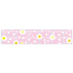 Flower Floral Sunflower Pink Yellow Flano Scarf (small) by Mariart
