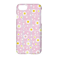 Flower Floral Sunflower Pink Yellow Apple Iphone 7 Hardshell Case by Mariart