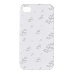 Dollar Sign Transparent Apple Iphone 4/4s Premium Hardshell Case by Mariart
