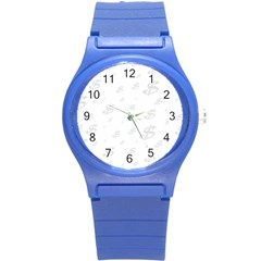 Dollar Sign Transparent Round Plastic Sport Watch (s) by Mariart