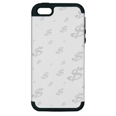 Dollar Sign Transparent Apple Iphone 5 Hardshell Case (pc+silicone) by Mariart