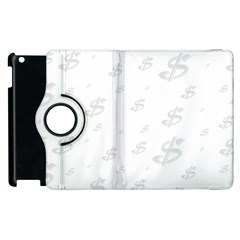 Dollar Sign Transparent Apple Ipad 3/4 Flip 360 Case by Mariart