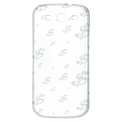 Dollar Sign Transparent Samsung Galaxy S3 S Iii Classic Hardshell Back Case by Mariart