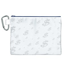 Dollar Sign Transparent Canvas Cosmetic Bag (xl) by Mariart