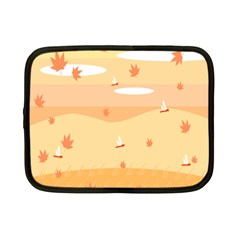 Dragonfly Leaf Orange Netbook Case (small)  by Mariart