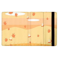 Dragonfly Leaf Orange Apple Ipad 3/4 Flip Case by Mariart