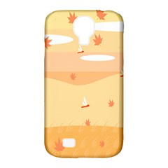 Dragonfly Leaf Orange Samsung Galaxy S4 Classic Hardshell Case (pc+silicone) by Mariart