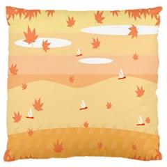 Dragonfly Leaf Orange Standard Flano Cushion Case (two Sides) by Mariart