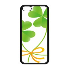 Flower Floralleaf Green Reboon Apple Iphone 5c Seamless Case (black) by Mariart