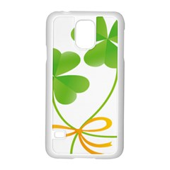 Flower Floralleaf Green Reboon Samsung Galaxy S5 Case (white) by Mariart