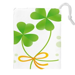 Flower Floralleaf Green Reboon Drawstring Pouches (xxl) by Mariart