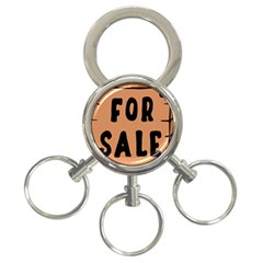 For Sale Sign Black Brown 3 Ring Key Chains by Mariart