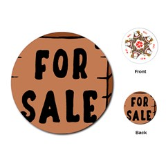 For Sale Sign Black Brown Playing Cards (round)  by Mariart