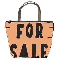 For Sale Sign Black Brown Bucket Bags by Mariart