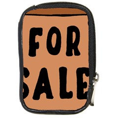 For Sale Sign Black Brown Compact Camera Cases by Mariart