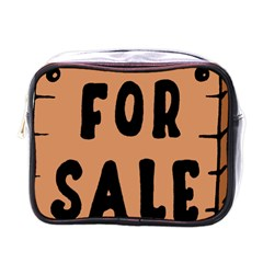For Sale Sign Black Brown Mini Toiletries Bags by Mariart