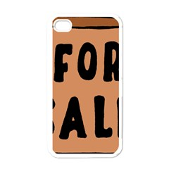 For Sale Sign Black Brown Apple Iphone 4 Case (white) by Mariart