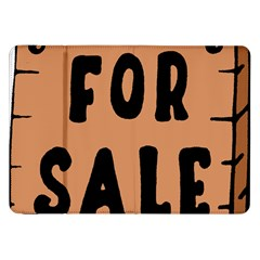 For Sale Sign Black Brown Samsung Galaxy Tab 8 9  P7300 Flip Case by Mariart