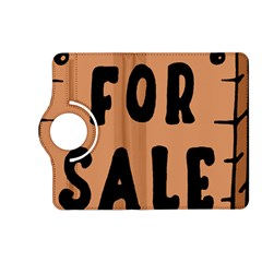 For Sale Sign Black Brown Kindle Fire Hd (2013) Flip 360 Case by Mariart