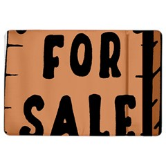For Sale Sign Black Brown Ipad Air 2 Flip by Mariart