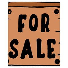 For Sale Sign Black Brown Drawstring Bag (small) by Mariart