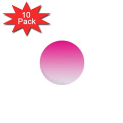 Gradients Pink White 1  Mini Buttons (10 Pack)  by Mariart