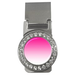 Gradients Pink White Money Clips (cz)  by Mariart