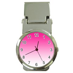 Gradients Pink White Money Clip Watches by Mariart