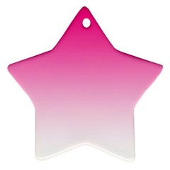 Gradients Pink White Star Ornament (two Sides) by Mariart