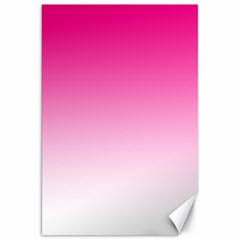 Gradients Pink White Canvas 20  X 30   by Mariart