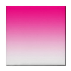 Gradients Pink White Face Towel by Mariart