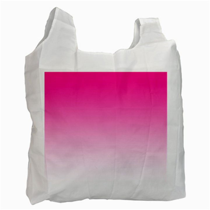 Gradients Pink White Recycle Bag (One Side)