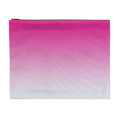 Gradients Pink White Cosmetic Bag (xl) by Mariart