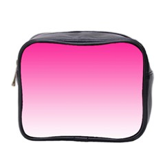 Gradients Pink White Mini Toiletries Bag 2 Side by Mariart