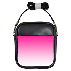 Gradients Pink White Girls Sling Bags by Mariart