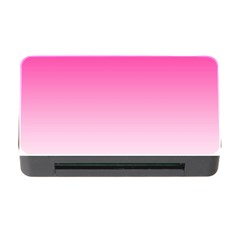Gradients Pink White Memory Card Reader With Cf by Mariart