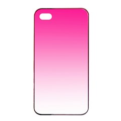 Gradients Pink White Apple Iphone 4/4s Seamless Case (black) by Mariart